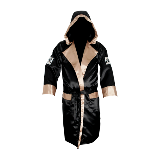 Cleto Reyes Boxing Robe with Hood Black and Gold