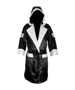 Cleto Reyes Boxing Robe with Hood Black and White