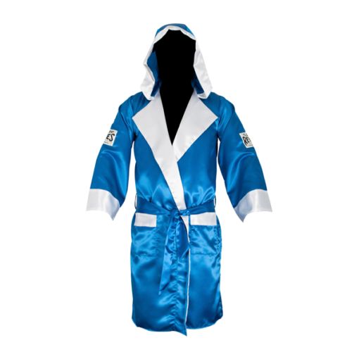 Cleto Reyes Boxing Robe with Hood Blue and White