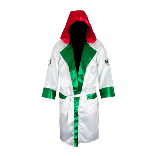 Cleto Reyes Boxing Robe with Hood Mexican Flag