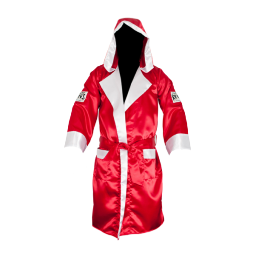 Cleto Reyes Boxing Robe with Hood Red and White