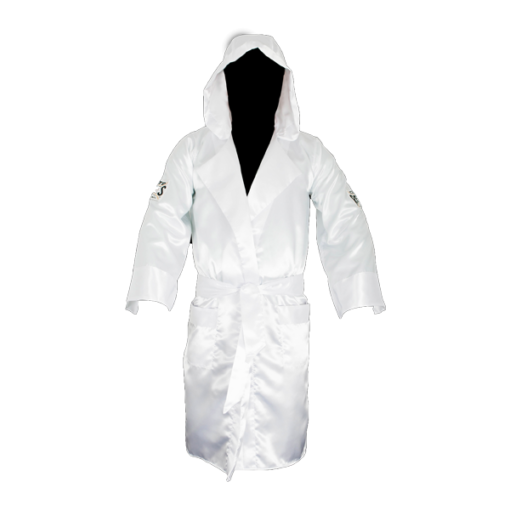 Cleto Reyes Boxing Robe with Hood White