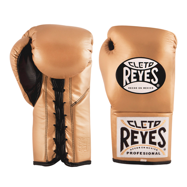 Cleto Reyes Professional Fights Boxing Gloves Solid Gold