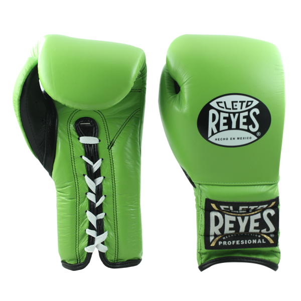 Cleto Reyes Traditional Training Lace Gloves Citrus Green