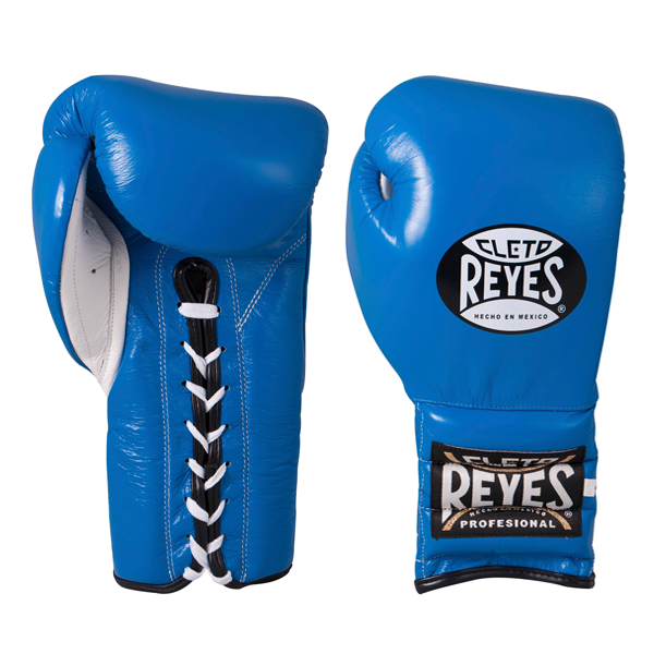Cleto Reyes Traditional Training Lace Gloves Electric Blue