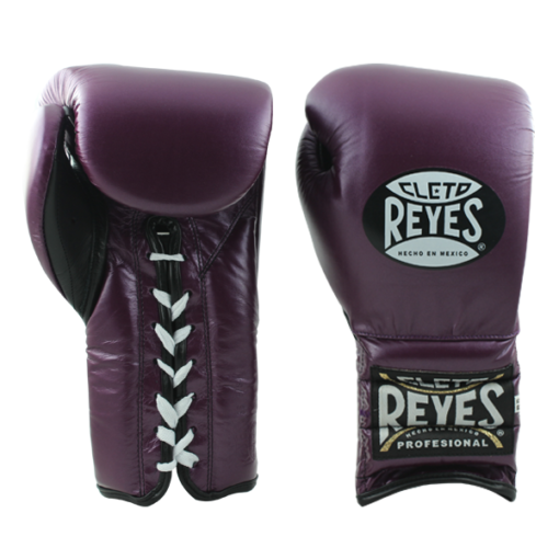 Cleto Reyes Traditional Training Lace Gloves Metallic Purple