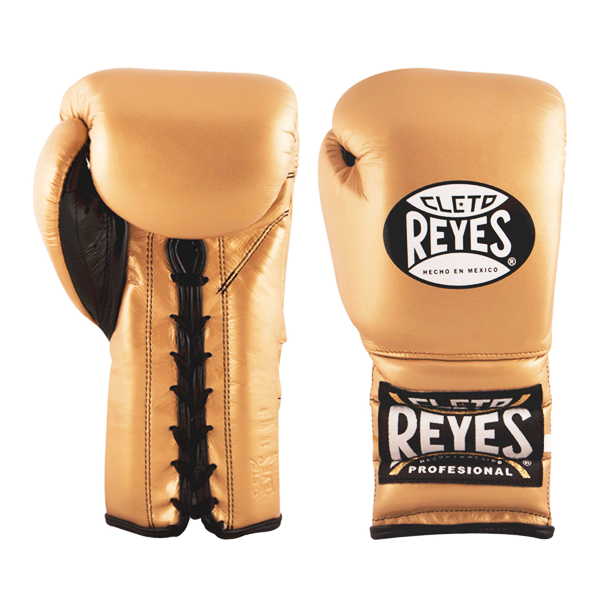 Cleto Reyes Traditional Training Lace Gloves Solid Gold