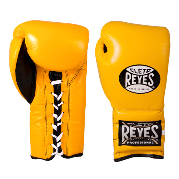 Cleto Reyes Traditional Training Lace Gloves Yellow