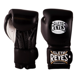 Cleto Reyes Training Gloves with Hook and Loop Closure - Black