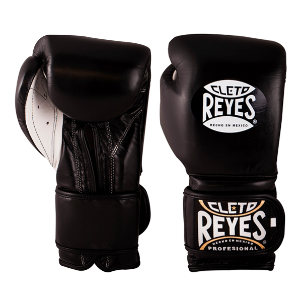 Cleto Reyes Velcro guantes de boxeo/ /negro