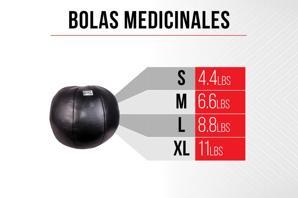 Size Chart Medicine Balls - S 4.4 pounds - M 6.6 pounds - L 8.8 pounds - XL 11 pounds