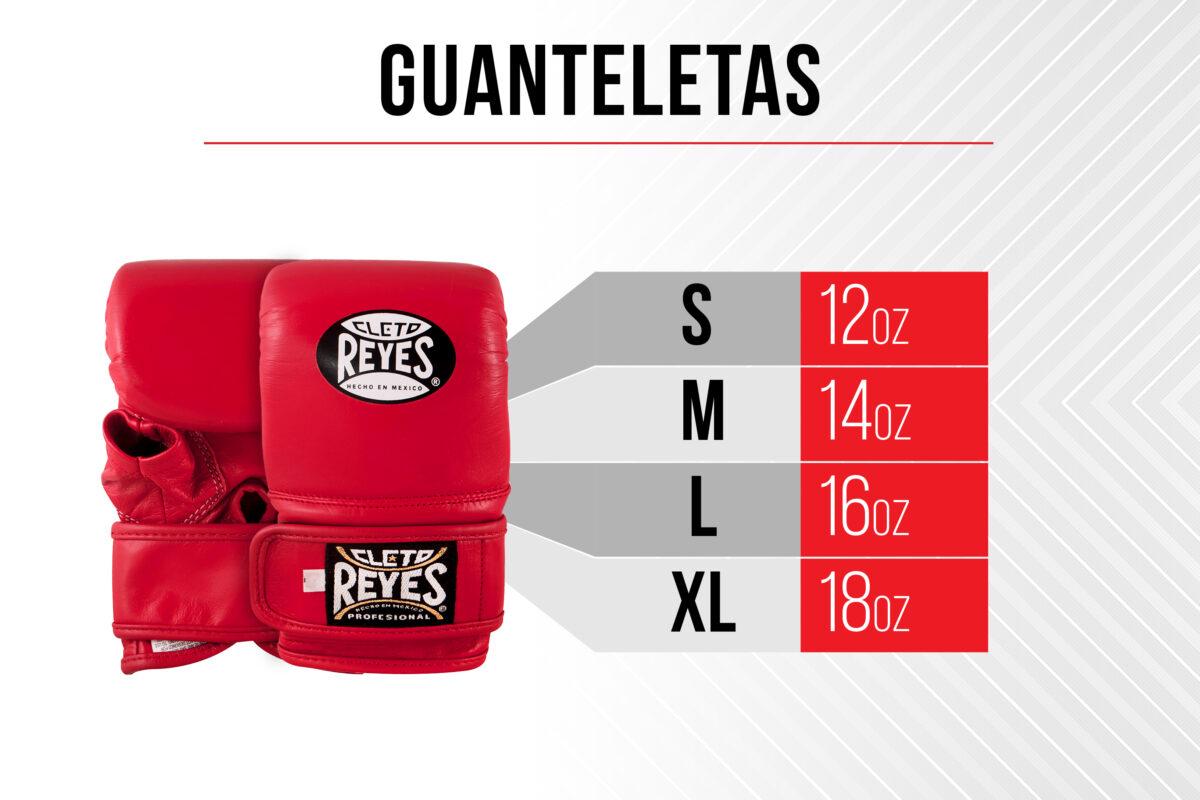 Size Chart Bag Gloves - S 12 ounces - M 14 ounces - L 16ounces - XL 18 ounces