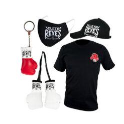 Bundle - Cleto Reyes T-shirt Champy - Cap - Facemask - keyring Red - Minipair gloves White