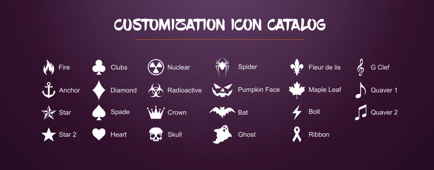 Customization icon Catalog